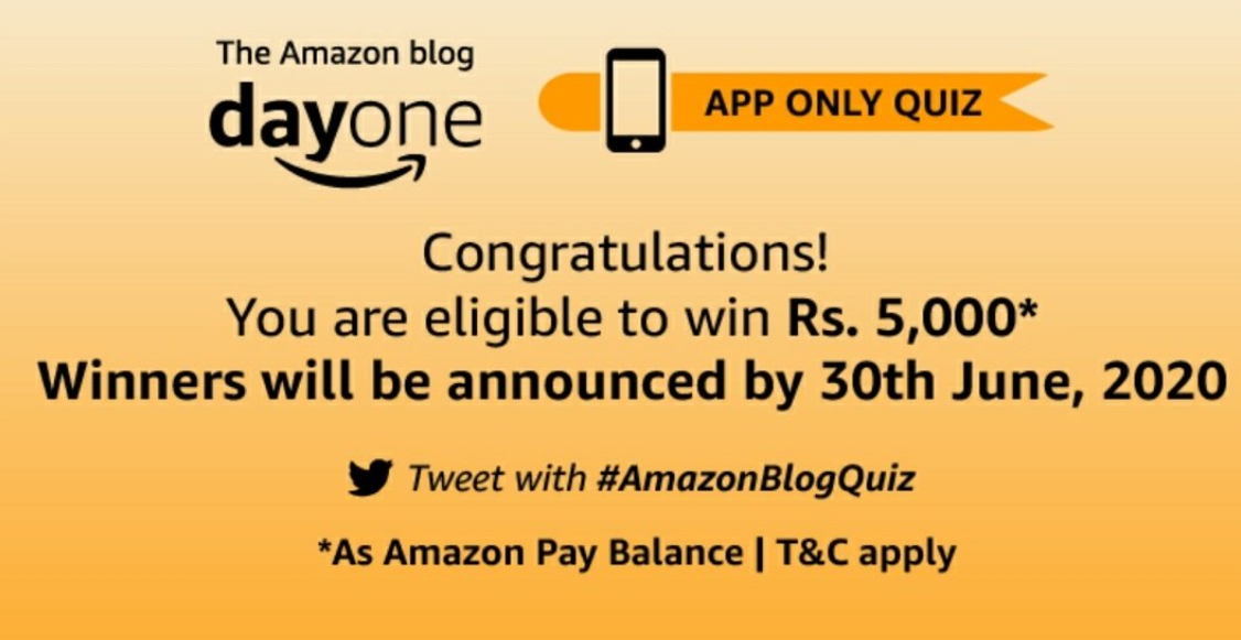 Amazon DayOne Blog Contest